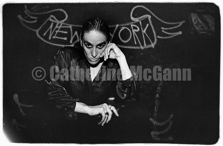August 1989:  Portrait of Diamanda Galas in New York City, New York..Copyright 2010 Catherine McGann
