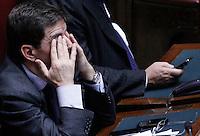 Nicola Cosentino prima del voto.Roma 12/1/2012 Voto alla  Camera dei Deputati  sulla proposta della Giunta di concedere l'autorizzazione ad eseguire la misura cautelare della custodia in carcere nei confronti di un deputato PDL.Foto Insidefoto  Serena Cremaschi.............