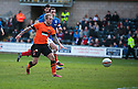 United's Johnny Russell scores united's third.