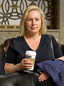 """United States Senator Kirsten Gillibrand (Democrat of New York) arrives to hear testimony before the US Senate Committee on Armed Services on """"Recent United States Navy Incidents at Sea"""" on Capitol Hill in Washington, DC on Tuesday, September 19, 2017.  The hearing is investigating the two separate collisions with the USS Fitzgerald and USS John S. McCain that resulted in the loss of 17 US Sailors. <br /> Credit: Ron Sachs / CNP"""