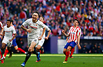 Sevilla FC's Lucas Ocampos celebrates after scoring a goal during La Liga match. Mar 07, 2020. (ALTERPHOTOS/Manu R.B.)