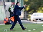 FK Trakai v St Johnstone…06.07.17… Europa League 1st Qualifying Round 2nd Leg, Vilnius, Lithuania.<br />Tommy Wright shouts at his players<br />Picture by Graeme Hart.<br />Copyright Perthshire Picture Agency<br />Tel: 01738 623350  Mobile: 07990 594431