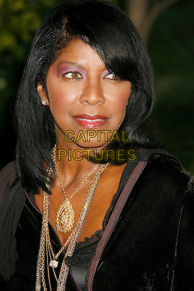 NATALIE COLE<br /> &quot;Dreamgirls&quot; Los Angeles Premiere held at the Wilshire Theatre, Beverly Hills, California, USA.<br /> December 11th, 2006<br /> headshot portrait gold necklace purple eyeshadow make-up makeup make up<br /> CAP/ADM/RE<br /> &copy;Russ Elliot/AdMedia/Capital Pictures