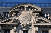 Europe/France/Provence-ALpes-Côte d'Azur/13/Bouches-du-Rhône/Marseille: Détail de la façade de la compagnie marseillaise de navigation sur la place du Général De Gaulle