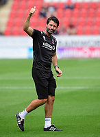Lincoln City manager Danny Cowley during the pre-match warm-up<br /> <br /> Photographer Chris Vaughan/CameraSport<br /> <br /> The EFL Sky Bet Championship - Rotherham United v Lincoln City - Saturday 10th August 2019 - New York Stadium - Rotherham<br /> <br /> World Copyright © 2019 CameraSport. All rights reserved. 43 Linden Ave. Countesthorpe. Leicester. England. LE8 5PG - Tel: +44 (0) 116 277 4147 - admin@camerasport.com - www.camerasport.com
