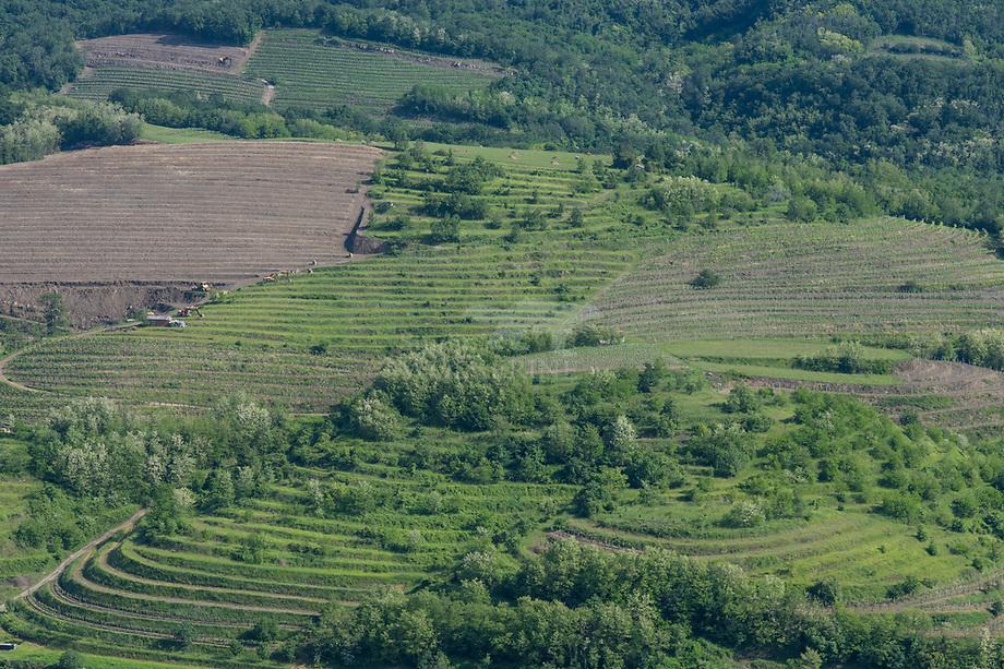 PLateau landschap in Sloveens middelgebergte