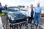 Tim and Breda Brown from Ballyduff with his 1952 Morris Minor at the Ballybunion Vintage rally on Sunday.