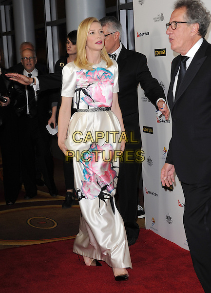 Cate Blanchett and Geoffrey Rush attends The G'Day USA Black Tie Gala held at  JW Marriot at LA Live in Los Angeles, California on January 11,2014                                                                                <br /> CAP/DVS<br /> &copy;Debbie VanStory/Capital Pictures