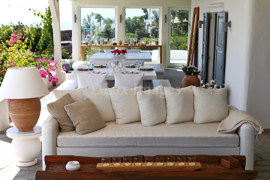 outdoor white sofa