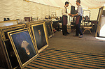 Country House Auction at Newnham Hall Northamptonshire 1994. Chritsies auction 1990s UK.