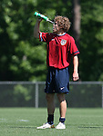 12 May 2006: Chris Albright cools off by squirting water on his face. The United States' Men's National Team trained at SAS Soccer Park in Cary, NC, in preparation for the 2006 FIFA World Cup tournament to be played in Germany from June 9 through July 9, 2006.
