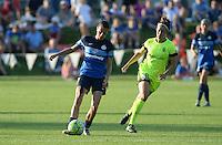 Kansas City, MO - Saturday June 25, 2016: Mandy Laddish, Havana Solaun during a regular season National Women's Soccer League (NWSL) match at Swope Soccer Village.