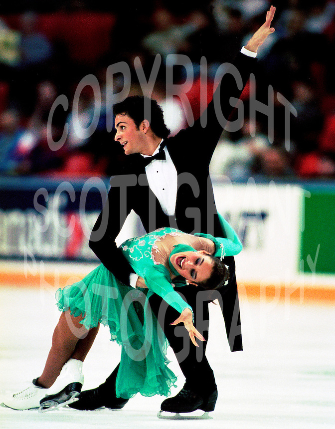 Chantal Lefebvre and Patrice Lauzon of Canada. Photo copyright Scott Grant.