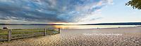 64795-01512 Sunset on South Bay, Lake Superior, Munising, Upper Peninsula, MI