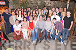 Mary Kelliher, Kilgobnet, Beaufort, pictured with her parents Kathleen and Tom, family and friends as she celebrated her 21st birthday in Kingstons Bar and beer garden, Killorglin on Saturday night.....................