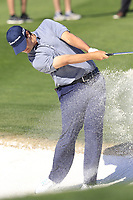 Beau Hossler (USA) plays his 2nd shot from a fairway bunker on the 9th hole during Saturday's Round 3 of the Waste Management Phoenix Open 2018 held on the TPC Scottsdale Stadium Course, Scottsdale, Arizona, USA. 3rd February 2018.<br /> Picture: Eoin Clarke | Golffile<br /> <br /> <br /> All photos usage must carry mandatory copyright credit (&copy; Golffile | Eoin Clarke)