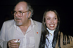 Robert Altman and Shelley Duvall at the movie premiere of 'Time Bandits' at the Underground on November 14, 1981.