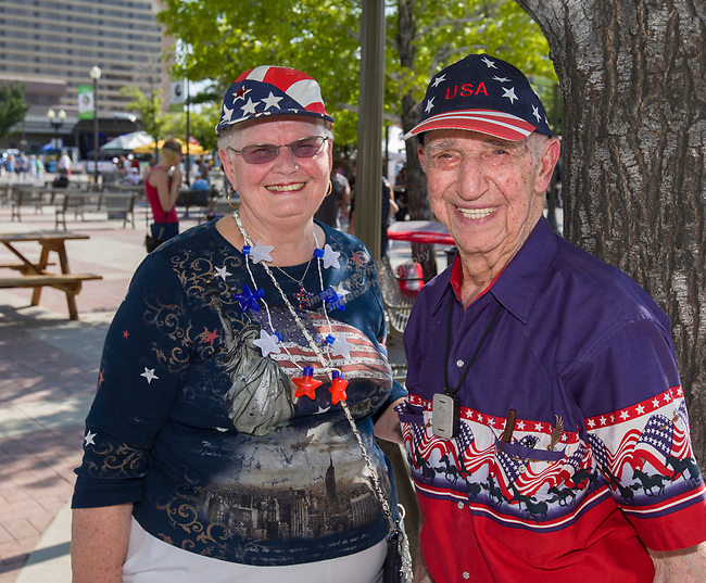 Elaine and Armen during Star Spangled Sparks on Wednesday July 4, 2018 in downtown Sparks.