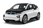 2017 BMW I3 Deka-World 5 Door Hatchback Angular Front stock photos of front three quarter view
