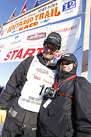 Sunday, March 4, 2012  Honorary musher, Dave Olson and his wife Donna, at the restart of Iditarod 2012 in Willow, Alaska.