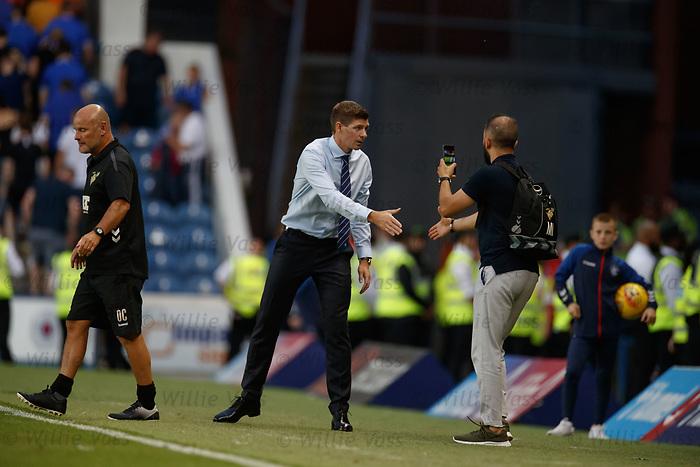 25.07.2019 Rangers v Progres Niederkorn: Steven Gerrard at full time