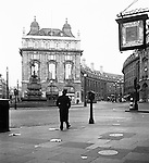 Piccadilly Circus at dawn 1930s