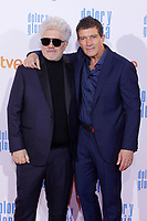 MADRID, SPAIN - March 13: Pedro Almodovar and Antonio Banderas at the premiere on Dolor y Gloria at the Capitol theater in Madrid, Spain on March13, 2019.  ***NO SPAIN***<br /> CAP/MPI/RJO<br /> &copy;RJO/MPI/Capital Pictures