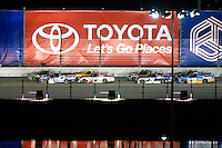 18-19 February, 2016, Daytona Beach, Florida USA<br /> Ben Kennedy, Timothy Peters, Johnny Sauter and Matt Crafton lead the field on the back straight.<br /> ©2016, F. Peirce Williams