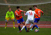 Action from the Central League football match between Wellington United and Miramar Rangers at Newtown Park in Wellington, New Zealand on Saturday, 10 June 2017. Photo: Dave Lintott / lintottphoto.co.nz