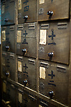 Photo shows old lockers at Dogo Onsen, thought to be Japan's oldest spa in Matsuyama City, Ehime Prefecture, Japan on 20 Feb. 2013.  Photographer: Robert Gilhooly