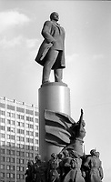 Mosca (Moscow) / Russia 24/8/1991.La statua di Lenin in Piazza Rivoluzione d'Ottobre..The statue of Lenin in the October Revolution Square..Photo Livio Senigalliesi.