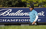 JEJU, SOUTH KOREA - APRIL 23:  Thongchai Jaidee of Thailand walks on the 5th hole during the Round Two of the Ballantine's Championship at Pinx Golf Club on April 23, 2010 in Jeju island, South Korea. Photo by Victor Fraile / The Power of Sport Images