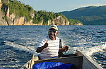 Pak Leonardo Sisaufa, head of Lobo Village, is a strong supporter of conservation and tourism development, and is happy to offer long boat tours of troton Bay.