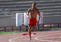 Speed racing training for young people, sports activity on the CODESON running track.<br />