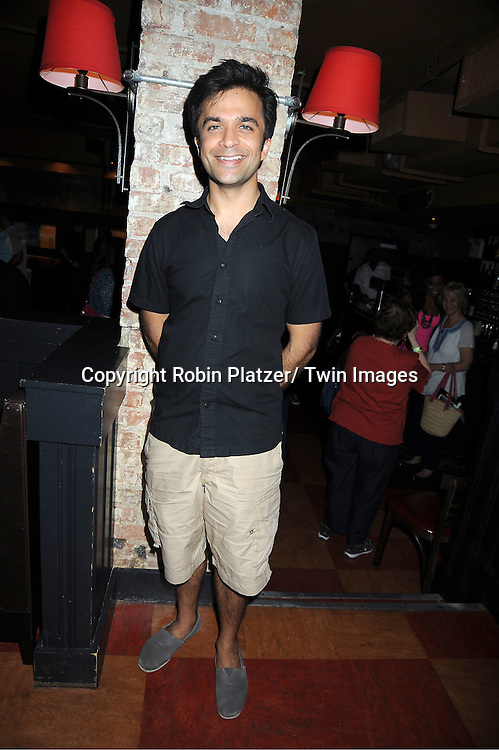 actor Nick Choksi attending the 5th Annual Sean Ringgold Fan Club Party on August 12, 2011 at HB Burger's Sunken Bar in New York City.
