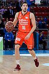 Valencia Basket's Guillem Vives during 2017 King's Cup match between Real Madrid and Valencia Basket at Fernando Buesa Arena in Vitoria, Spain. February 19, 2017. (ALTERPHOTOS/BorjaB.Hojas)