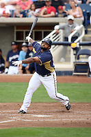 Prince Fielder #28 of the Milwaukee Brewersplays in a spring training game against the Cincinnati Reds at Maryvale Stadium on March 20, 2011  in Phoenix, Arizona. .Photo by:  Bill Mitchell/Four Seam Images.