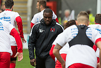 Leyton Orient Coach ahead of the Sky Bet League 2 match between Leyton Orient and Wycombe Wanderers at the Matchroom Stadium, London, England on 1 April 2017. Photo by Andy Rowland.