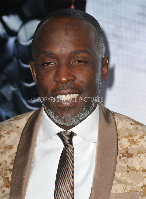 WWW.ACEPIXS.COM<br /> <br /> February 10 2014, New York City<br /> <br /> Michael Kenneth Williams arriving at the Los Angeles premiere of 'Robocop' at TCL Chinese Theatre on February 10, 2014 in Hollywood, California<br /> <br /> By Line: Peter West/ACE Pictures<br /> <br /> <br /> ACE Pictures, Inc.<br /> tel: 646 769 0430<br /> Email: info@acepixs.com<br /> www.acepixs.com