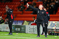 Blackpool manager Simon Grayson shouts instructions to his team from the technical area<br /> <br /> Photographer Alex Dodd/CameraSport<br /> <br /> The EFL Sky Bet League One - Doncaster Rovers v Blackpool - Tuesday September 17th 2019 - Keepmoat Stadium - Doncaster<br /> <br /> World Copyright © 2019 CameraSport. All rights reserved. 43 Linden Ave. Countesthorpe. Leicester. England. LE8 5PG - Tel: +44 (0) 116 277 4147 - admin@camerasport.com - www.camerasport.com