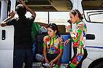 SULAIMANIYAH, IRAQ: Members of Newroz cycling club Nyan Yassin (centre) and Sozi Dilshad (right) refresh themselves after competing in team time trials in temperatures of over 30&ordm;C.<br /> <br /> Nyan Yassin, 24, is a professional competitive cyclist in Sulaimaniyah in the semi-autonomous region of Iraqi Kurdistan.  She is the captain of an all-female club called Newroz Club, which is the only cycling club for women in Sulaimaniyah, although there are other clubs around Iraq.  She trains and competes on roads that are badly surfaced and busy with traffic.<br /> <br /> Nyan was the first woman to start cycling in Sulaimaniyah.  She was always competitive and after trying her hand at different sports she settled on cycling.  She is now the top female cyclist in Iraq.  Her nickname is MigMig after the noise made by the cartoon character Roadrunner.<br /> <br /> Despite being clearly talented at her sport Nyan knows that in a couple of years she will have to get married and then abandon it as, in the traditional society that Kurdistan is, being a wife and a competitive sportswoman at the same time is not an option.<br /> <br /> Photo by Gona Hassan/Metrography