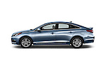 Car Driver side profile view of a 2017 Hyundai Sonata Eco 4 Door Sedan Side View