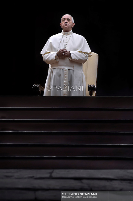 Pope Francis vigil prayer in preparation for the Synod on the Family at St Peter's square at the Vaticann.October 4, 2014
