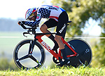 US National Champion Joseph Rosskopf (USA) BMC Racing Team in action during Stage 16 of the La Vuelta 2018, an individual time trial running 32km from Santillana del Mar to Torrelavega, Spain. 11th September 2018.                    Picture: Colin Flockton | Cyclefile<br /> <br /> <br /> All photos usage must carry mandatory copyright credit (&copy; Cyclefile | Colin Flockton)