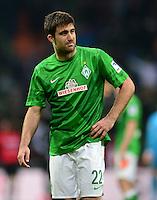 FUSSBALL   1. BUNDESLIGA   SAISON 2012/2013    24. SPIELTAG SV Werder Bremen - FC Augsburg                           02.03.2013 Sokratis Papastathopoulos (SV Werder Bremen) ist enttaeuscht