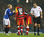 Steven Naismith appeals to referee Jonas Eriksson