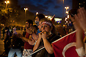 ISTANBUL, TURKEY-- JUNE 2, 2013-- Outside Besiktas football stadium protesters stop traffic. PHOTO BY JODI HILTON