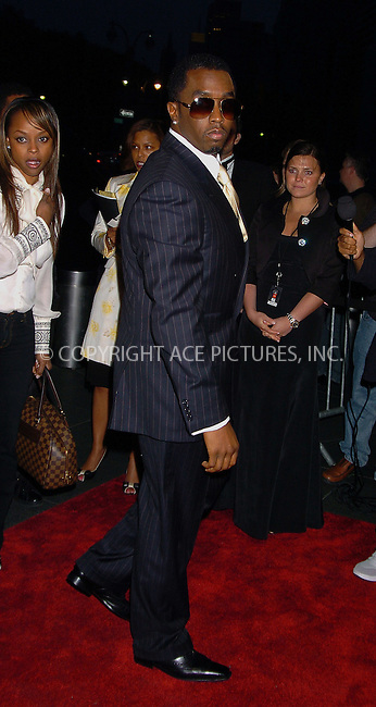 """WWW.ACEPIXS.COM . . . . .  ....NEW YORK, MAY 8, 2006....Sean """"Diddy"""" Combs at Time Magazine's 100 Most Influential People 2006... ....Please byline: AJ Sokalner - ACEPIXS.COM.... *** ***..Ace Pictures, Inc:  ..(212) 243-8787 or (646) 769 0430..e-mail: picturedesk@acepixs.com..web: http://www.acepixs.com"""