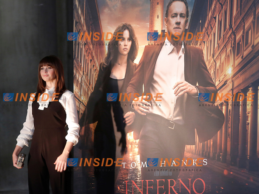 Felicity Jones<br /> Firenze 06-10-2016. Photocall del film 'Inferno' in anteprima mondiale.<br /> Rome 6th October 2016. 'Inferno' Photocall<br /> Foto Samantha Zucchi Insidefoto