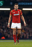 Dan Biggar of Wales during the RBS 6 Nations Championship rugby game between Wales and Scotland at the Principality Stadium, Cardiff, Wales, UK Saturday 13 February 2016